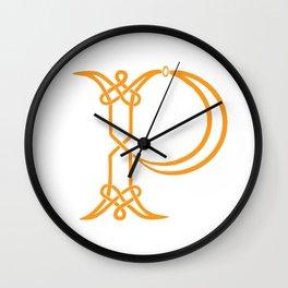 Celtic Knot Initial P Wall Clock