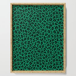 LEOPARD PRINT in GREEN | Collection : Leopard spots – Punk Rock Animal Print Serving Tray