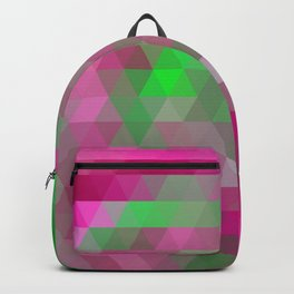 Pink Lime Mosaic Backpack
