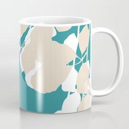 leves teal and tan Coffee Mug