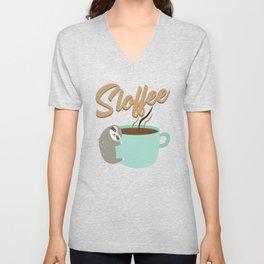 Sloffee | Coffee Sloth Unisex V-Neck