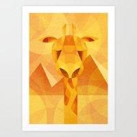Solar giraffe Art Print