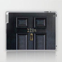 Haunted black door with 221b number Laptop & iPad Skin