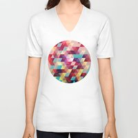 solid V-neck T-shirts featuring Solid colors by Tony Vazquez