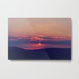 Pink and Purple Truckee Sunrise Metal Print