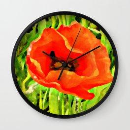 Poppy Warp Wall Clock