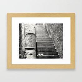 Italian street stairs Framed Art Print