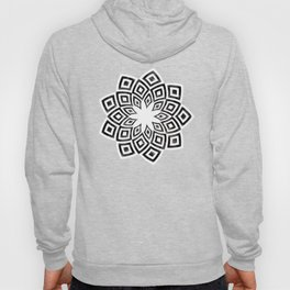 Black and white watercolor diamond pattern Hoody