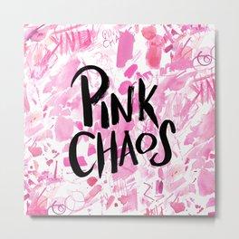 pink chaos Metal Print