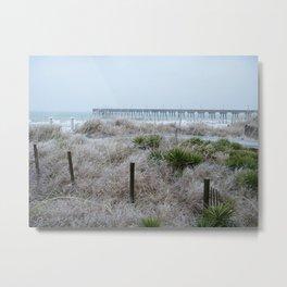 Frozen beach Metal Print
