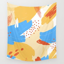 Yellow Abstraction Wall Tapestry