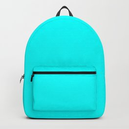 Neon Aqua Blue Bright Electric Fluorescent Color Backpack