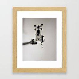 Dripping tap Framed Art Print