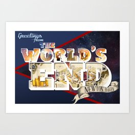 Greetings From: The World's End Art Print
