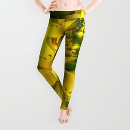 Happiness Is a Meadow of Yellow Daffodil Flowers Leggings