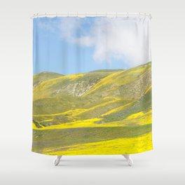 Central California Golden Fleece Daisies Super bloom Shower Curtain