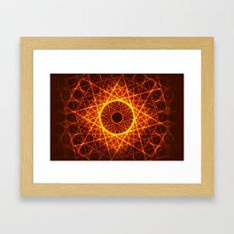 Fire Constellation Framed Art Print