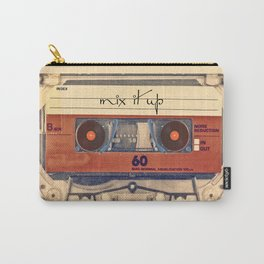 Mash Up Mixtape Vintage Record Player Cassette Tape Hybrid Carry-All Pouch