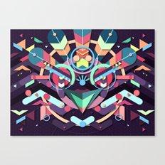BirdMask Visuals - Peacock Canvas Print