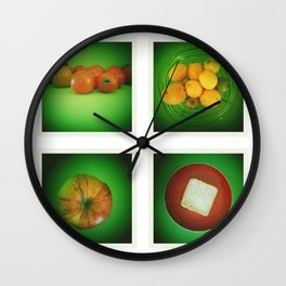 Green Kitchen Wall Clock