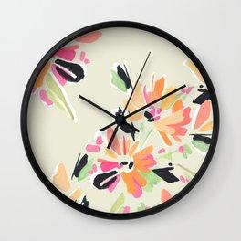 Mod Floral Wall Clock