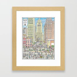Downtown Sao Paulo, Martinelli Building, Brazil Framed Art Print