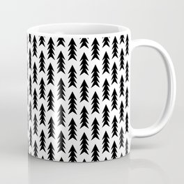 Trees - black and white modern minimal camping nature wanderlust hipster vintage retro classic natur Coffee Mug