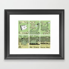 Dinosaur Poem Framed Art Print