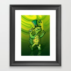 Saint Patrick's Day Green Turtle Framed Art Print