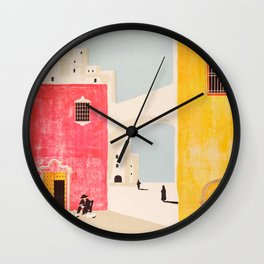 Spain Vintage Travel Poster Mid Century Minimalist Art Wall Clock