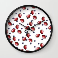 Berry Fields Wall Clock
