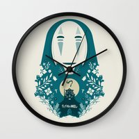 spirited away Wall Clocks featuring Spirited by Duke Dastardly