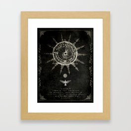 Book of the Sun (akashic records) Framed Art Print