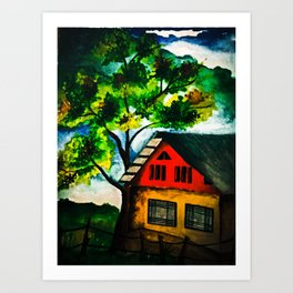 Into the woods! Art Print