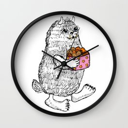 Little Monster bringing cookies Wall Clock