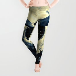 The Call Of The Sky. A Legendary Aircraft Propeller Against The Clouds Leggings