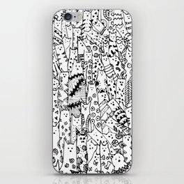 Cat Doodles iPhone Skin