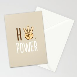 HiiiPower (w/text) : Pale Stationery Cards