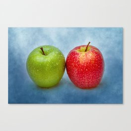 Green And Red Apples Canvas Print