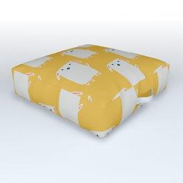 Cute sweet Dog Yellow Outdoor Floor Cushion