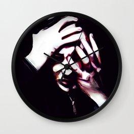 Head will roll color Wall Clock