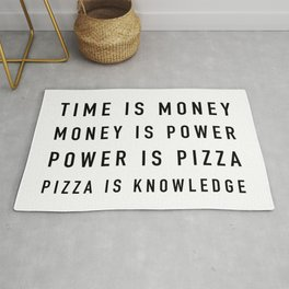 Pizza is Knowledge Rug