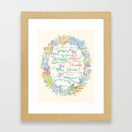 Take Heart - John 16:33 Framed Art Print