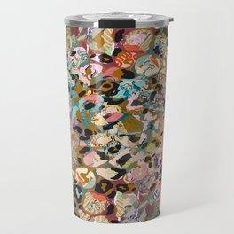 new leopard confetti rose Travel Mug