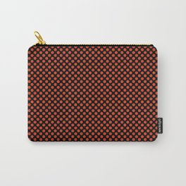 Black and Tangerine Tango Polka Dots Carry-All Pouch