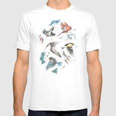 Birdwatching Mens Fitted Tee White MEDIUM