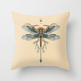 Dragonfly Tattoo Throw Pillow