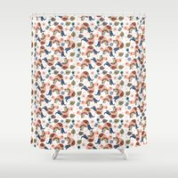 turtles Shower Curtains featuring Turtles by luizavictoryaPatterns
