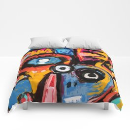 The King of Snake Street Art Graffiti Digital Comforters