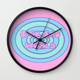 Sick Sad World Daria Favorite Documentary in Pastel Wall Clock